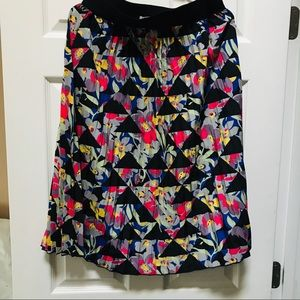 LulaRoe pattern midi Lola skirt EUC size medium